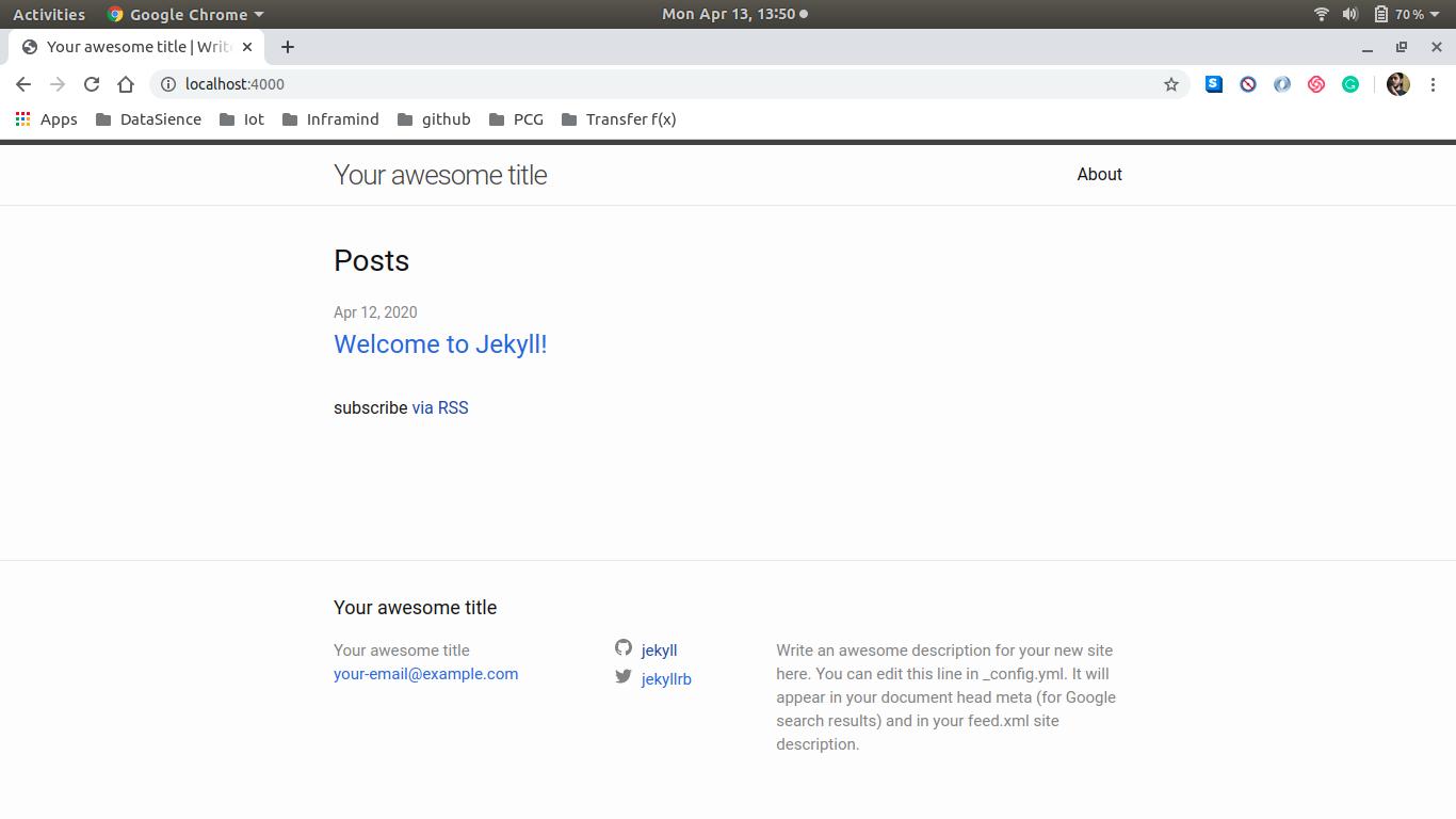 default website